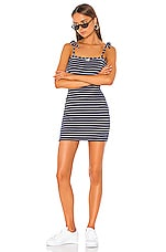 Solid & Striped Shift Dress in Navy Breton Terry