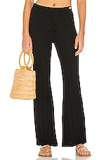 Solid & Striped Knit Pants in Black
