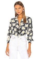 Solid & Striped Button Down Shirt in Graphic Daisy