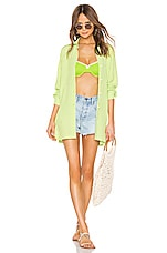 Solid & Striped Button Down in Lime Gingham