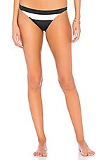 Solid & Striped The Brooke Bikini Bottom in Black & Cream