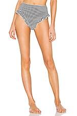 Solid & Striped Lana Bikini Bottom in Black Gingham
