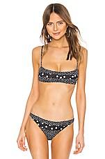 Solid & Striped Brooke Bikini Top in Polka Dot Mixed
