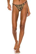 Solid & Striped Lulu Bikini Bottom in Snake Knit