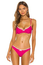 Solid & Striped Daphne Bikini Top in Fuchsia