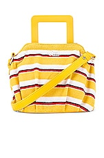 Solid & Striped The Lola Bag in Yellow Stripe Terry
