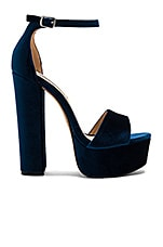 Gonzo V Heel in Blue Velvet