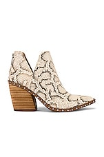 Steve Madden Alyse Bootie in Light Beige Snake