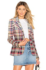Smythe Patch Pocket Duchess Blazer in Madras Plaid