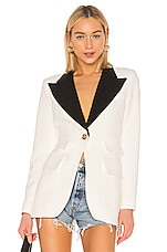 Smythe Blocked Birkin Blazer in White & Black