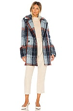 Smythe Car Coat in Mohair Plaid