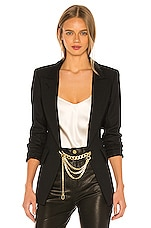 Smythe X Jenny Bird Collab Blazer in Black With Ox Gold