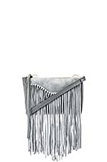 Talitha Suede Clutch in Smoke