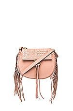 Babylon Bar Bag Mini Croc in Rose