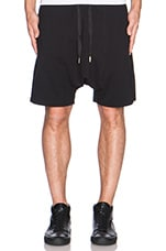 Drop Crotch Shorts in Black