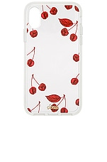 Sonix Cherry Photo iPhone XS/X Case in Red