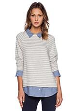 Diadem Sweater in Heather Grey