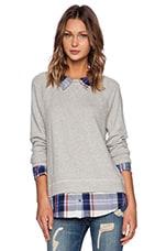 Diadem Sweater in Heather Grey & Porcelain