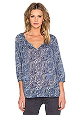 Legaspi Blouse en Colony Blue