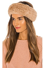 Soia & Kyo Jaleh Faux Fur Headband in Honey