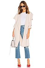 Soia & Kyo Ornella Trench Coat in Pearl