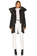 Soia & Kyo Emele Parka With Faux Fur Trim in Black