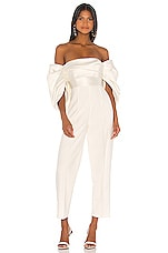 SOLACE London Kasey Jumpsuit in Winter White