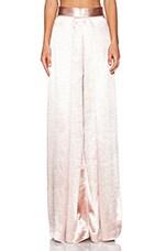 SOLACE London Stellis Trousers in Metallic Pink