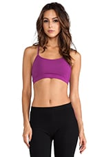 Jersey Racerback Sports Bra in Flora