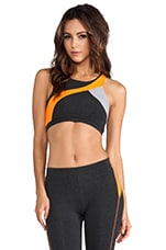 90/10 Racerback Colorblock Bra in Charcoal/Monarch/Quartz