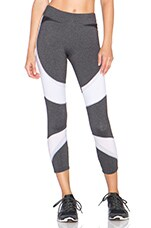 Eclon Crop Legging in Black, White, Grey & Rosewood