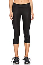 PANTALON CAPRI COATED FRENCH TERRY