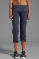 Fold Over Dancer's Warm-Up Pant in Navy