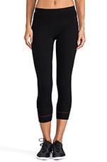 90/10 Crop Contrast Legging in Black/Flora/Hibiscus