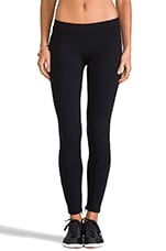 Eclon Leggings w/ Front Zip in Black