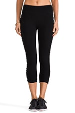 Crop Shirred Legging in Black