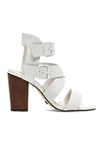X SKIN Preston Open Toe Heels in White