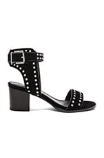 Porter Heel in Studded Black Suede