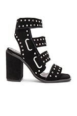 Lixer Heel in Studded Black Suede