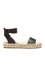 Platform Open Toe Sandal in Black