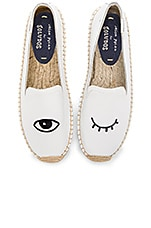 Embroidered Platform Smoking Slipper in White