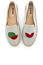 Soludos Watermelons Smoking Slipper in Chambray