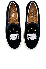 Soludos Velvet Sheep Sneaker in Midnight Blue
