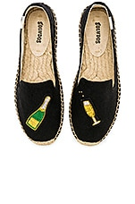 Soludos Cheers Smoking Slipper in Black