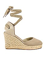 Soludos Tall Wedge in Dark Safari