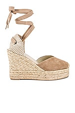 Soludos Mallorca Wedge Espadrille in Blush