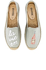 Soludos La Vie En Rose Smoking Slipper in Chambray