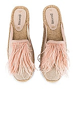 Soludos Feathers Mule in Sand