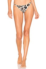 Storm Cap Ferret Bikini Bottom in Leopard