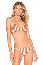 Storm Sicily Bikini Top in Sunburnt Stripe
